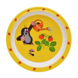 Plate The Little Mole and strawberries, 21 cm