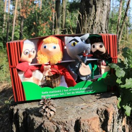 Little Red Riding Hood, set of marrionettes
