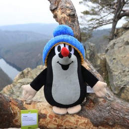The Mole with blue bobble hat, 25 cm