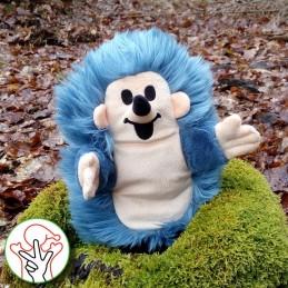 Hedgehog, handpuppet, 23 cm