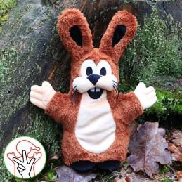 Hare, hand puppet, 37 cm