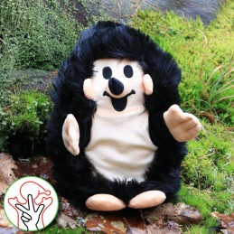Hedgehog, hand puppet, 27 cm