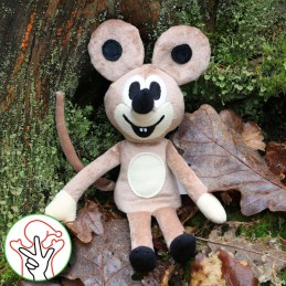 Mouse, hand puppet, 23 cm