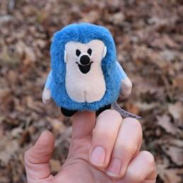 Ježek modrý, prstový maňásek, 8 cm