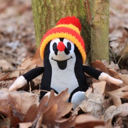 The Little Mole, sitting, bobble hat, 12 cm