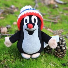 The Little Mole with bobble cap, tricolour, 15 cm