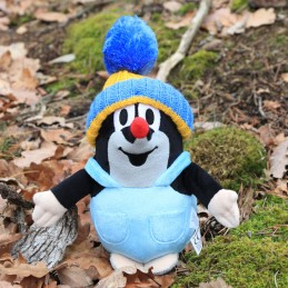 The Mole in pants, bobble hat, blue, 20 cm