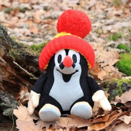 The Little Mole, sitting with red bobble hat, 20 cm