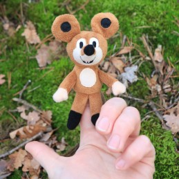 Mouse, hand puppet, 40 cm