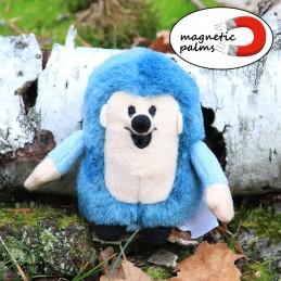 Hedgehog, blue, hand puppet, 27 cm