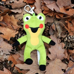Frog, 10 cm, carabiner