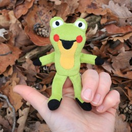 Frog, finger puppet, 10 cm