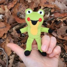 Žabka, prstový maňásek, 10 cm