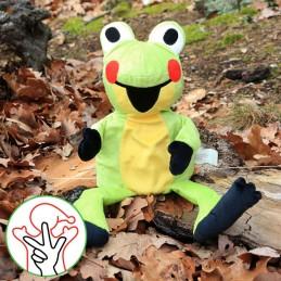 Frog, hand puppet, 23 cm