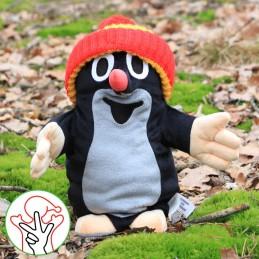 The Mole, hand puppet, bobble hat, 28 cm