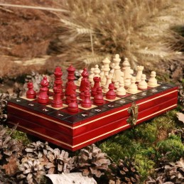 Chess, magnetic, burgundy colore