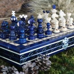 Šachy, modré